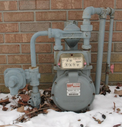 Gas Meter in the Snow
